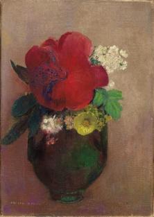 El florero de la amapola roja. Odilon Redon. 1895